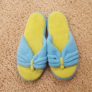 New AVON Blue/Green Slippers